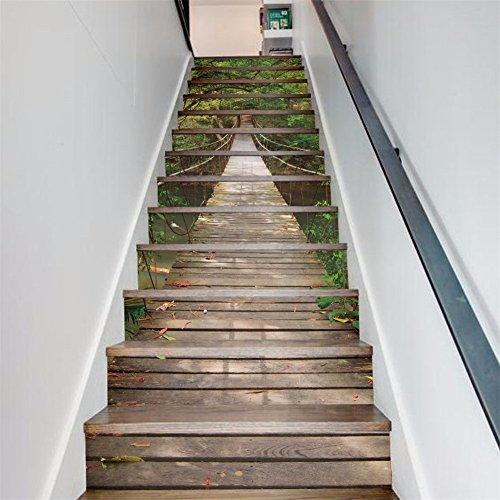 decoration-dun-paysage-3d-affiches-de-foret-pont-levis-un-escalier-posted-creative-accueil-wall-etan