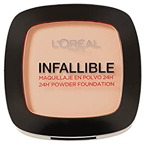 L'Oréal Paris – Infallible 24H, Maquillaje en Polvo Compacto, Tono 123