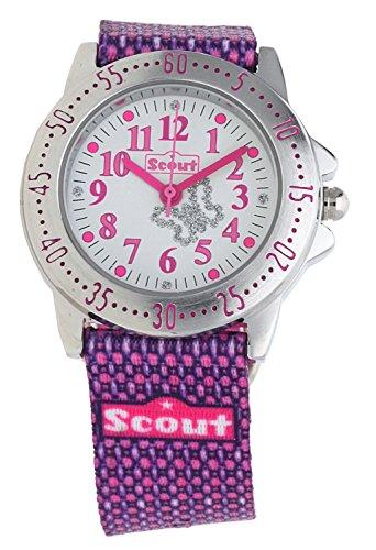 Scout Mdchen Analog Quarz Uhr mit Textil Armband 280378006 - 2