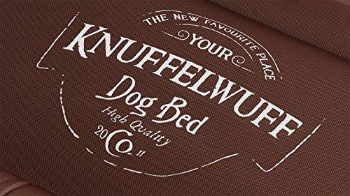 Knuffelwuff 13969-006 Wasserfestes Hundebett Avery mit Vintage Aufdruck, XXL, 120 x 85 cm, braun - 4