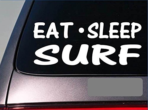 Tollyee Car Decals and Stickers Eat Sleep Surf Sticker *H17* 8