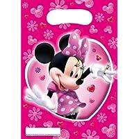 Amscan 6346 - Bolsas de fiesta Minnie Mouse (6 unidades)