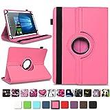 NAmobile Tablet Tasche kompatibel für Xido Z120 Z110 X111 X110 Hülle Schutzhülle Tablettasche mit Standfunktion 360 Crad drehbar Universal Tablethülle, Farben:Pink