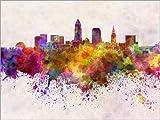 Posterlounge Forex-Platte 130 x 100 cm: Cleveland-Skyline von Editors Choice
