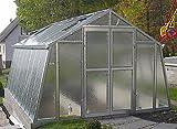 Gewächshaus mit Glas unschlagbar stabil 3,03 x 3,03 m, Konstruktion Metall verzinkt