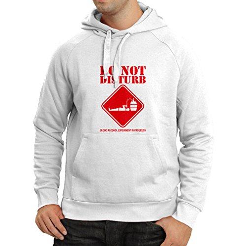 Lepni.me felpa con cappuccio alcol del sangue esperimento in progresso - camicie divertenti da bere (xx-large bianco rosso)