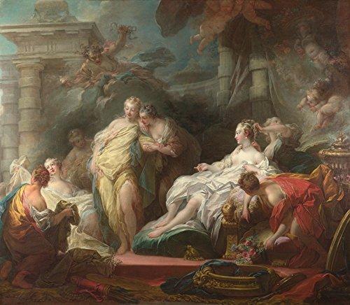 Das Museum Outlet–jean-honoré Fragonard–Psyche Showing Her Sisters Her Geschenke aus Amor, gespannte Leinwand Galerie verpackt. 40,6x 50,8cm (Geschenk Fragonard)