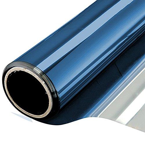 NewStar Sonnenschutzfolie | selbsthaftende Fensterfolie | UV-Schutz & Sichtschutzfolie, Kratzfest,Verdicken Materialstärke 0.1 mm (Blaues Silber, 90 x 200 cm)
