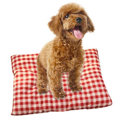 Sansee Haustier Hund Katze Bett Kuschelhöhle Kissen (Rot M)