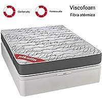 PIKOLIN Colchón viscoelástico HR 150x190 firmeza Alta, Reversible, máxima Calidad, Alto 25 cm