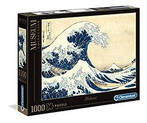 Clementoni - Puzzle Grandes museos 1000 Piezas Hokusai: La Gran Ola (39378)
