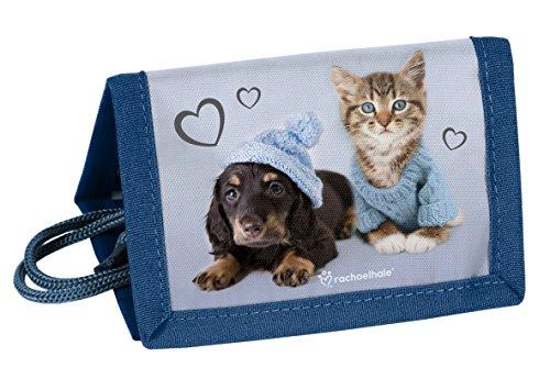 eldbörse Portemonnaie Geldbeutel Jungen Mädchen (Blau Hund + Katze) ()