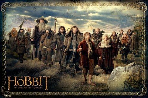 AMBROSIANA GB Eye, The Hobbit, Cast, Maxi Poster, 61x91.5cm