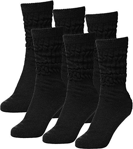 Brubaker 6er Pack Unisex Slouch Socken für Fitness Workout Yoga Gymnastik Wellness Schwarz Gr. 39/42