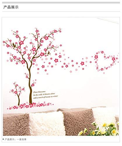 Pflaume Wandaufkleber Wohnzimmer Schlafzimmer TV Wand Schlafsofa Kreative Heimat Hintergrund Dekoration 60 Cm x 90 Cm (überprüfen Pflaume)