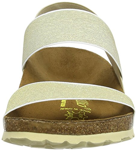 PapillioCaterina Stretch - Sandali Donna Marrone (Brown (Beige/Gold))