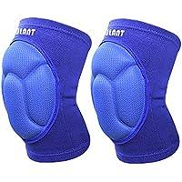 Protección para la Rodilla, EULANT Anti-colisión Engrosamiento Rodilleras Transpirables Alta Elasticidad Espesa Esponja Rodillera (1 par) al Voleibol Portero Fútbol Arrodillado Baile Hip Hop Azul