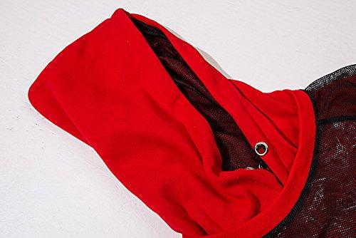 Sissiren Hip Hop Hoody Pullover con Cappuccio Maglione Unisex Sweatshirt Stile Scuro Rosso