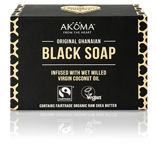 Black Soap with Shea Butter and Coconut Oil for Men and Women | Vegan, Organic, Ideal for Face and Body