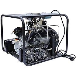 Davv Digital haute pression Compresseur d'air pour paintball PCP comprimé Fusil Scuba Réservoir Remplissage, Cooler SYTEM Intégré, 220V, jusqu'à 4500PSI Jauge de pression facile à Régler, Scu60s