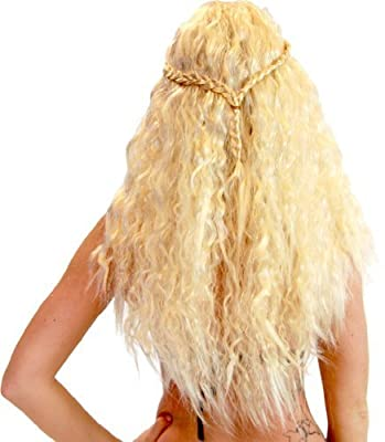 Game of Thrones GOT Khaleesi Daenerys Targaryen Warrior Princess Costume Wig