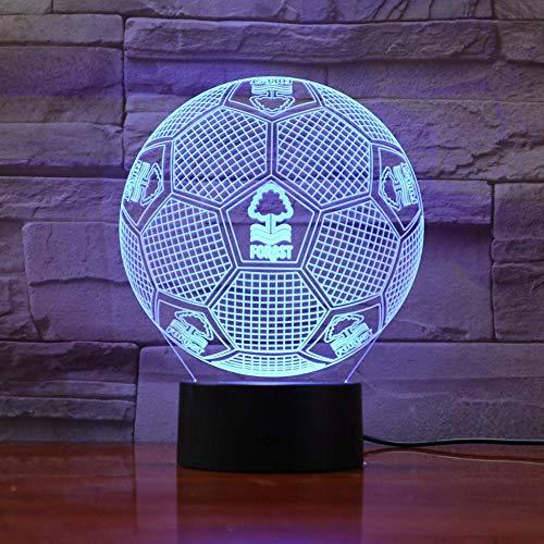 LED Bluetooth Nachttisch Licht Fußball Fußball Team Logo 3D LED Lampe 7 Farben Ändern Touch Control USB Geschenk Epacket Fast Dropshipping Service
