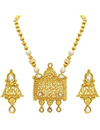 Sukkhi Incredible Gold Plated Kundan Necklace Set For Women