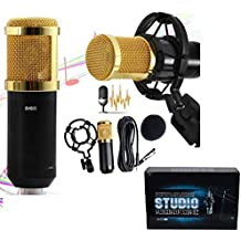 Professional Studio Microphones With Dynamic Condenser Bm 800 Mic For Recording Bm800 Singing Mics Mike Youtube (Need extra power supply/sound card) (BM-800 Golden)