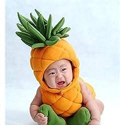 Bebé recién nacido infantil hecha a mano ganchillo gorro Piña Estilo de bebé ropa fotografiando accesorios, mtong Kids fotografía Props Photo Props Disfraz Ropa Wear (apto para bebés 0–6meses, al desgaste)
