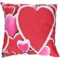 """Funda de almohada, hmlai del día de San Valentín Amor Corazón Impresión fundas de almohada poliéster sofá coche cojín cubierta decoración del hogar, 18""""x18"""", D"""