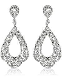 SHAZE Rhodium Plated Ivory Sparkle  Earrings for women stylish Earrings for girls