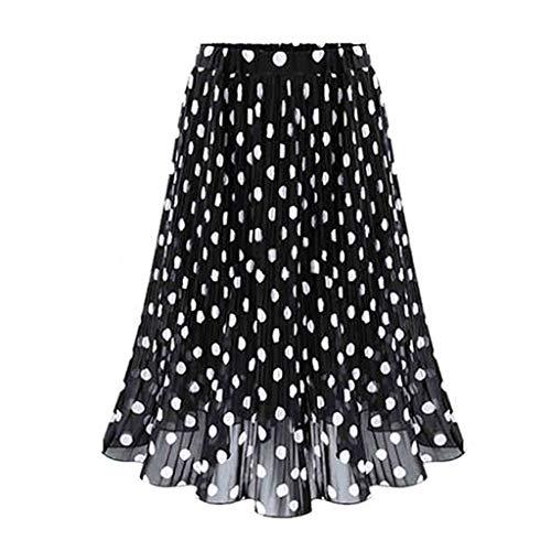 Preisvergleich Produktbild LSAltd Mode Frauen Vintage Polka Dot Plissee Ausgestelltes Skater Rock Damen Urlaub Hohe Taille Swing Rock