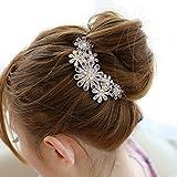 Frcolor Clip di capelli di cristallo di fiori bellissimi gioielli per capelli Clip viola di strumenti di bellezza