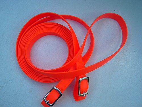 MJH Beta BioThane Zügel VB/WB 16mm/2,70m orange vernäht zum verschnallen