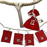 Adventskalender von JEMIDI XXL 3,30m Adventsgirlande Adventskalender zum selbst Befüllen Advent Kalender Kette Weihnachtskalender (Adventsgirlande XXL)