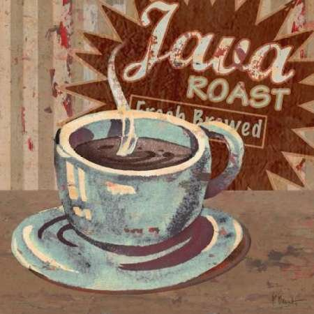 Cafetera Brew Sign II por Brent, Paul – Fine Art Print disponible sobre lienzo y papel, lona, SMALL (12 x 12 Inches )