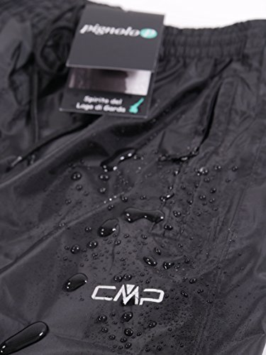 Regenhose Outdoor Hose CMP für Damen wasserdicht 3000 mm Wassersäule und mit Packbeutel in verschiedenen Farben erhältlich. Für Wandern und Gassi gehen. Unser Sondermodell Rebekara Nero