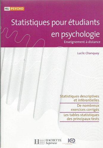 statistiques pour tudiants en psychologie