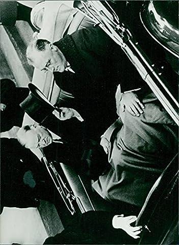 Vintage Photo de Herbert Hoover Clark et Franklin Delano Roosevelt sont assis Ensemble en voiture.