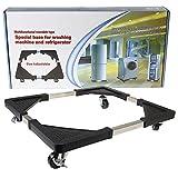 Qualtex Chariot à roulettes base mobile multi-usage pour appareils électroménagers - Sèche-linge, cuisinières, réfrigérateurs et congélateurs