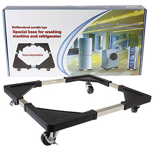 Qualtex Base speciale multifunzione,carrello con rotelle movibili per apparecchiature domestiche,asciugatrici,forni, frigoriferi e congelatori