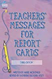 Teachers' Messages for Report Cards