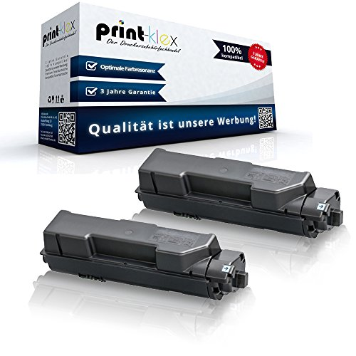 Preisvergleich Produktbild 2x Kompatible Tonerkartuschen für Kyocera ECOSYS P2040 DN P2040 DW 1T02RY0NL0 TK 1160 K TK-1160 K TK1160K Schwarz Black - Office Print Serie