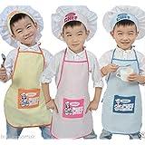 Para niños gorro de aliños para delantal de cocina de horno para cama infantil de succión con Amarillo