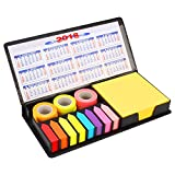 #9: PINZO™ Sticky Note Memo Pad with Arrow Flags in PU Leather Case with 2018 Calendar