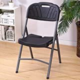 BHJqsy Bunter tragbarer Klappstuhl, Nordic-Fashion-Home-Hocker Tragbarer Stuhl mit Multifunktionssitz im Freien Reiseskizze Tragbare Bank Moderner Bürokunststoffstuhl (Farbe : SCHWARZ)