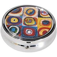 Fridolin Kandinsky Pillendose aus Metall Dose für Tabletten *Farbstudie* preisvergleich bei billige-tabletten.eu