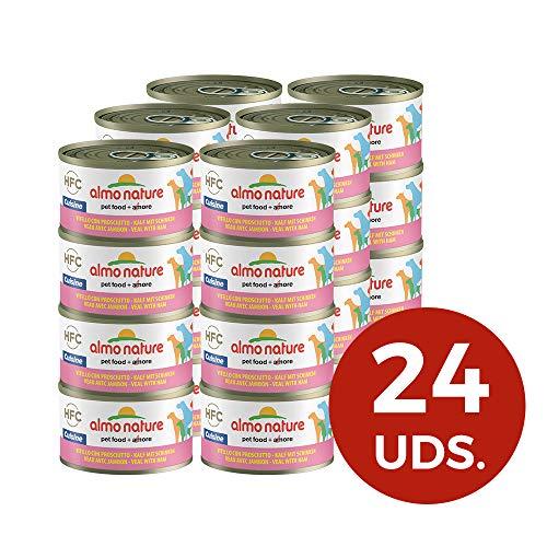 Almo Nature HFC Cuisine Le Veau et Jambon Nourriture pour Chien mouillé, 95g, Lot de 24