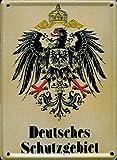 Retro Wandschild Designer Schild Deutsches Schutzgebiet Deko 8x11cm Nostalgie Metal Sign A600