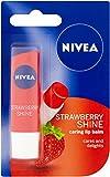 Bálsamo para el cuidado de los labios de Nivea, sabor fresa, 4,8g, paquete de 12 unidades